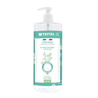 Creme mains hydroalcoolique Wyritol  - bambou - flacon de 500 ml