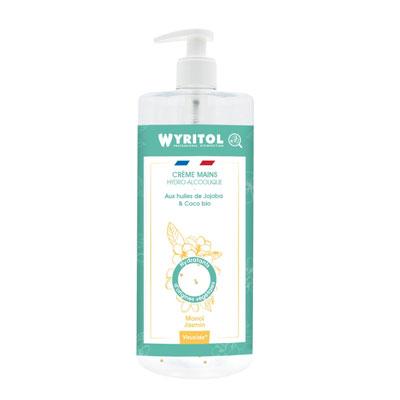 Creme mains hydroalcoolique Wyritol - monoi - flacon de 500 ml