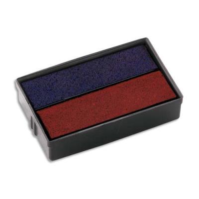 Blister 2 encriers Colop E10/2 bicolore pour mini dateur S160/L1-L2-L3 Colop (photo)