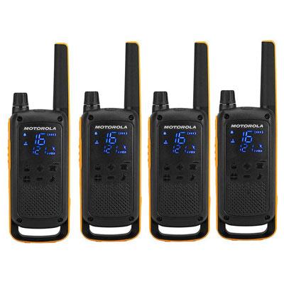 Pack de 4 talkies-walkies Motorola t82 - extreme
