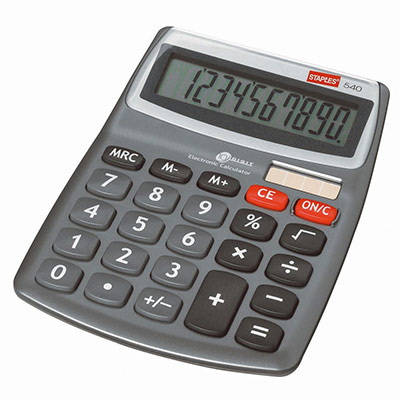 Calculatrice de bureau 540 - 10 chiffres (photo)