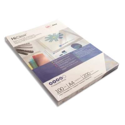 Couvertures transparentes GBC - 200µ - incolore - boîte de 100