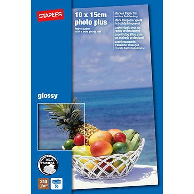 Papier photo brillant A6 blanc 240g pour jet d'encre - boîte de 50 feuilles (photo)