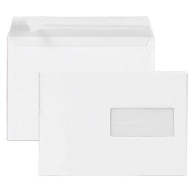 Enveloppe blanche Raja - C5 162 x 229 mm - avec fenêtre - fermeture autocollante avec bande protectrice - papier 80 g