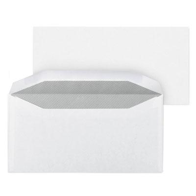 Enveloppe blanche Raja pour mise sous pli automatique - 115 x 225 mm - avec papier cristal fenêtre - 45 x 100 mm - fermeture gommée - papier 80 g