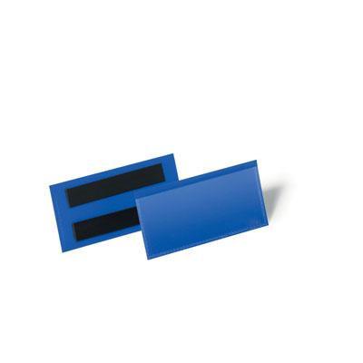 Pochettes logistiques magnétiques Durable - 100 x 38 mm - bleu