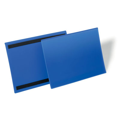 Pochettes logistiques magnétiques Durable - format A4 - paysage 297 x 210 mm - bleu