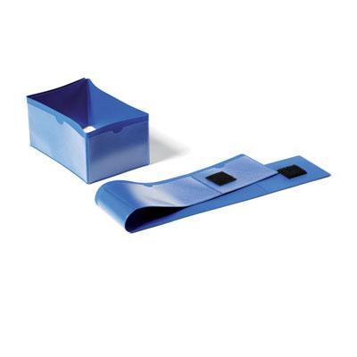 Pochettes porte-étiquette logistique Durable pour pied de palette - 145 x 75 mm - bleu