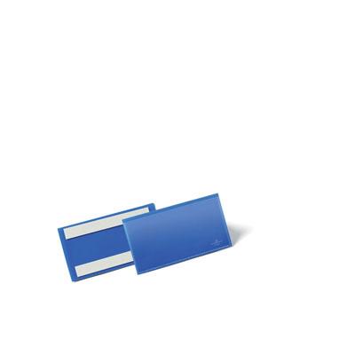 Pochettes logistiques Durable - adhésives - 150 x 67 mm - bleu