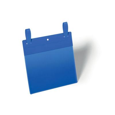 Pochettes logistiques Durable avec système d'attache - format A5 - paysage - 210 x 148 mm - bleu