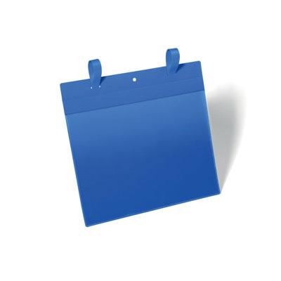 Pochettes logistiques Durable avec système d'attache - format A4 - paysage - 297 x 210 mm - bleu