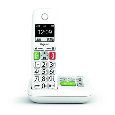 Téléphone sans fil Gigaset DECT E290A - grandes touches - blanc