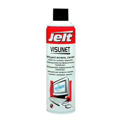 Mousse de nettoyage écrans et claviers Jelt Visunet - aérosol 650 ml