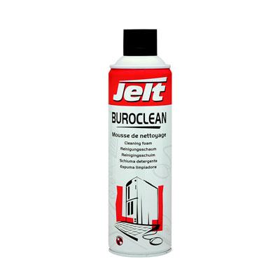 Mousse de nettoyage plastique et métal Jelt Buroclean - aérosol 650 ml