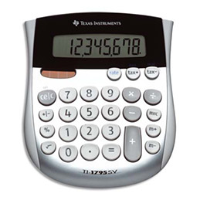 Calculatrice de poche Texas Instruments TI-1795 - 8 chiffres (photo)