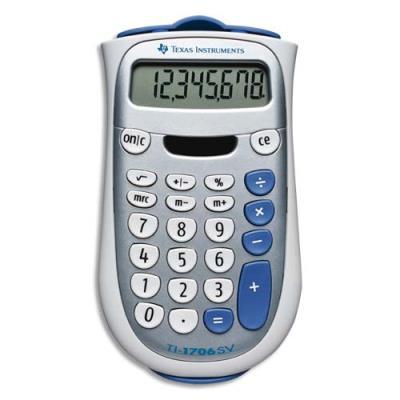 Calculatrice de poche TI 706SV - 8 chiffres (photo)
