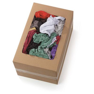 Chiffons en coton - couleurs assorties - 100 chiffons