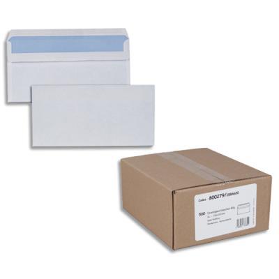 Enveloppes 110 x 220 mm - blanches - autocollantes - 80 g - boîte de 500 (photo)