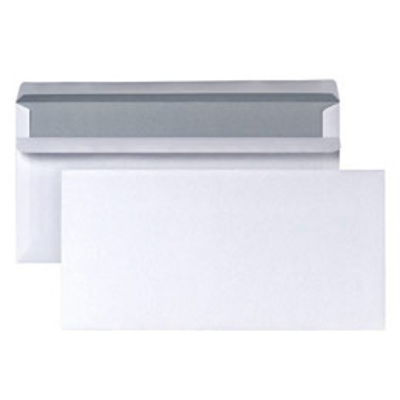 Enveloppes 110x220 - blanches - 80 g - autocollante - boîte de 500 (photo)