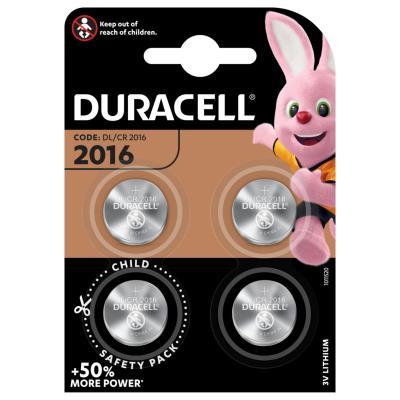 Pile bouton Lithium CR 2016 - Lot de 4 (blister 4 unités)