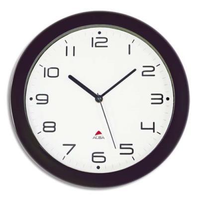Horloge murale à mouvement quartz Hornew diamètre 30 cm - noir (photo)