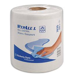 Bobine d'essuie mains Kimberly Roll Control - 500 formats - lot de 6 bobines (photo)