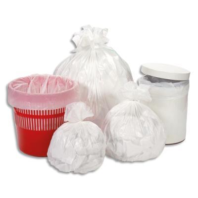 Sacs poubelles - 30 L - blanc - 12 microns - lot de 500 sacs (photo)