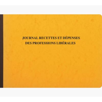 Cahier piqûre recettes et dépenses des professions libérales Exacompta - 80 pages (photo)