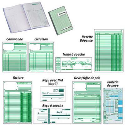 Carnet de commandes Manifold, 50 feuilles autocopiantes, sans carbone, paysage, 297 x 210 mm (bloc 50 feuilles)