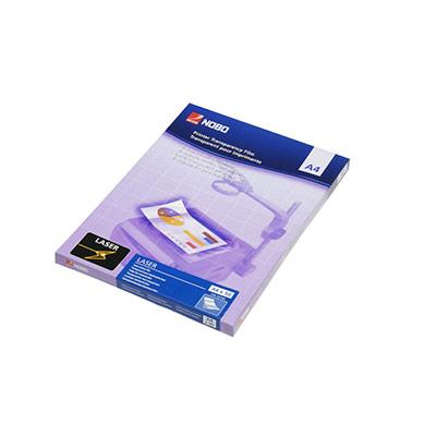 Film laser transparent Nobo - A4 - 210 x 297 mm - transparent - paquet 50 unités (photo)