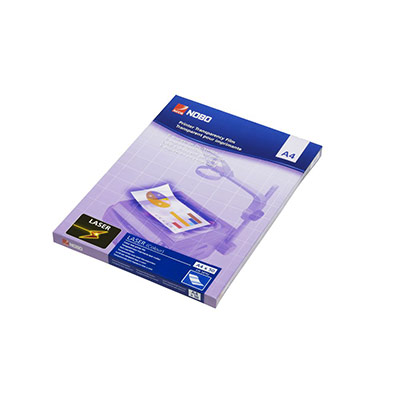 Transparents Nobo pour laser couleur - paquet 50 unités (photo)