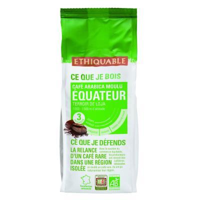 Café moulu Équateur, Arabica, sachet, 250 g (paquet 250 grammes)