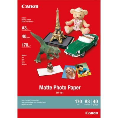 Papier photo mat - 170 g - format A3 - boîte de 40 feuilles (photo)