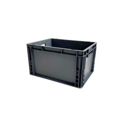 Bac de rangement norme Europe, gerbable 20 litres - polypropylène gris anthracite