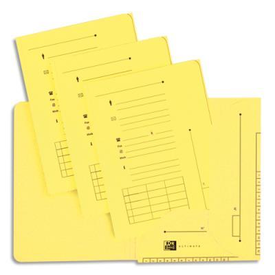 Chemise 2 rabats HV Ultimate pour dossiers suspendus - jaune - 23.5 x 31,5 cm - paquet de 25 (photo)