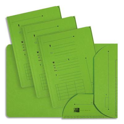 Chemise 2 rabats HV Ultimate pour dossiers suspendus - vert - 23.5 x 31,5 cm - paquet de 25 (photo)