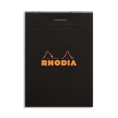 Bloc Rhodia - Couverture noire -Format - 7,4 x 10,5 cm - réglure 5x5 - 80g (photo)