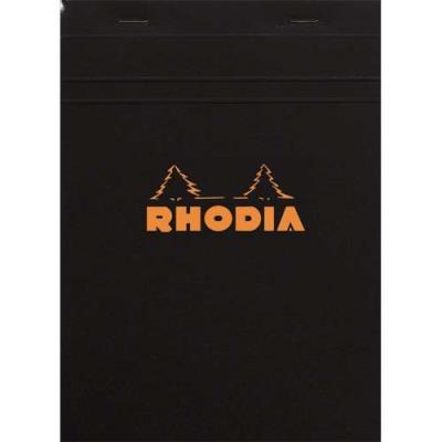 Bloc Rhodia couverture noire - format 14,8x21 cm - réglure 5x5 - 80g (photo)