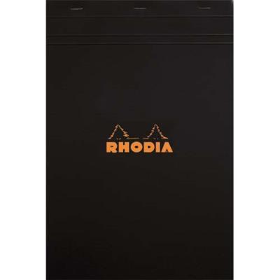 Bloc Rhodia Couverture noire - format A4 - réglure 5x5 - 80g (photo)
