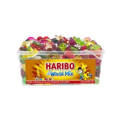 Assortiment de bonbons tendres Haribo World Mix parfums fruités - boîte de 900g