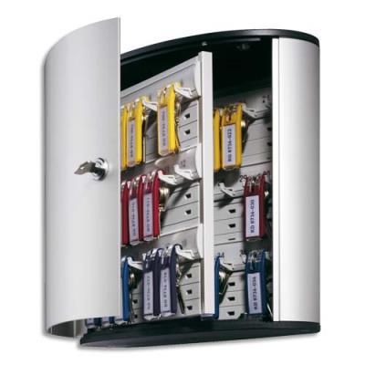 Armoire à clés Durable Key Box 36 - fournie avec 6 porte-clés - capacité 36 clés (photo)