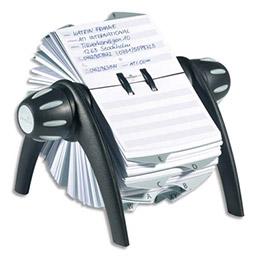 Fichier rotatif noir pour fiche contact 25 onglets alphabétique Durable Telindex Flip (photo)