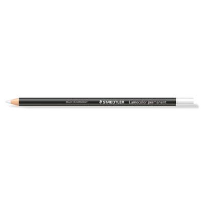 Crayon marqueur permanent Lumocolor Glasochrom - boîte de 13 - blanc