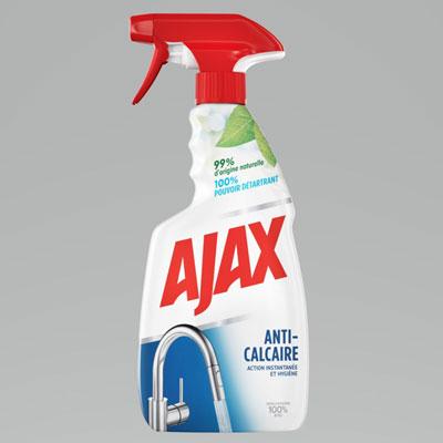 Nettoyant végétal anti-calcaire Ajax - spray 500 ml
