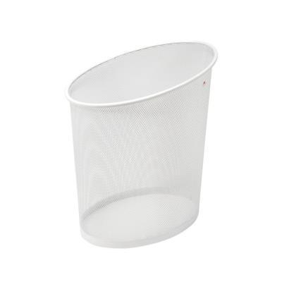 Corbeille à papier Mesh, métal blanc - 18 l (photo)