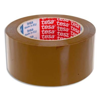 Ruban adhésif d'emballage Tesa - polypropylène silencieux - havane - 45 microns - 50 mm x 100 m (photo)
