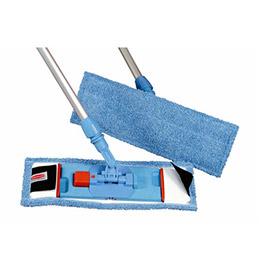 Franges bleus microfibres Rubbermaid pour support BU400 (photo)