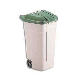 Couvercle vert pour conteneur carré à roues Rubbermaid 100 L (photo)