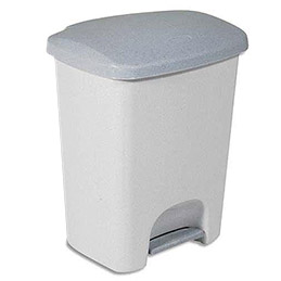 Poubelle à pédale Luna de Rubbermaid - plastique gris - 25 L - 36,5 x 46,2 x 29,5 cm (photo)