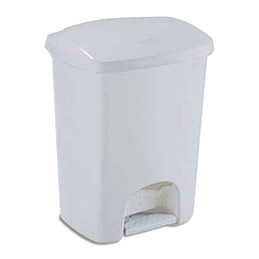 Poubelle à pédale Luna de Rubbermaid - en plastique gris - 40 L - 41 x 57,5 x 33,8 cm (photo)